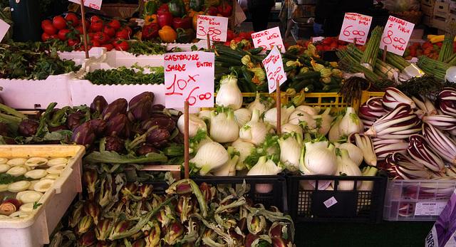 Baby artichokes, fennel, radiccio