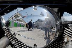 Selfie motocycliste