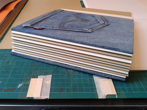 Work in Progress - Making Jeansbooks