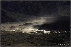 Kleiner Sandsturm in der Caldera