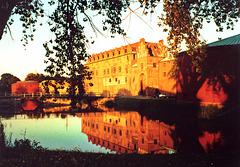 Malmö, Slot Malmöhus bei Sonnenuntergang