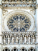 Detail, Rosenfenster, Westfassade, Kathedrale, Amiens, Normandie, Frankreich