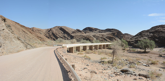 Namibia, Bridge over the Dry River of Kuiseb