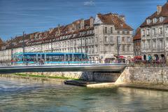 BESANCON: Le quai Vauban, le pont Battant.03