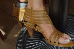 wife in in nine west heels