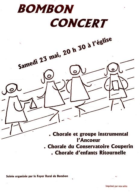 Concert à l'église de Bombon le 23 mai 1998