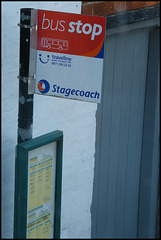Stagecoach bus stop
