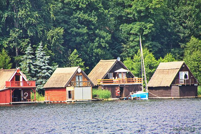 Plau, Bootshäuser am Plauer See