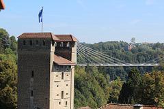 porte de Morat et pont de la Poya
