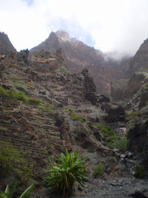 Steep mountainside.
