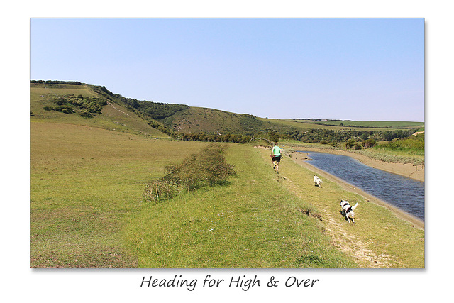 Man & dogs head for High & Over - 12.5.2015