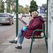 Waiting, eating, reading