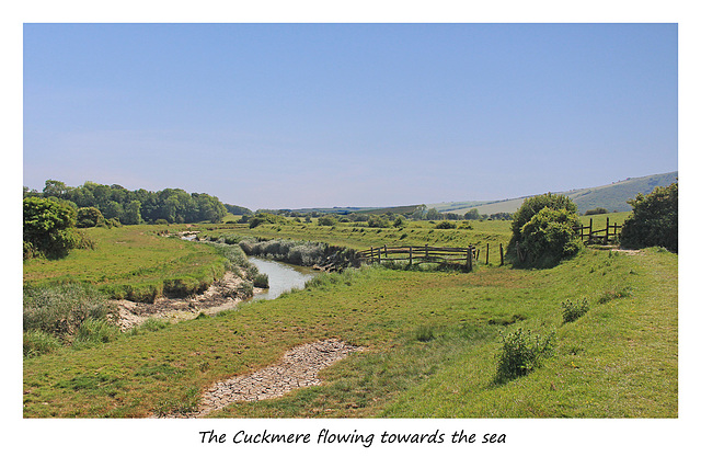 The Cuckmere flowing towards the sea - 12.5.2015