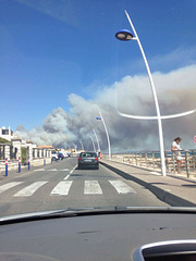 Incendie sur la Côte  bleue