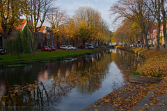 along the canal in Edam
