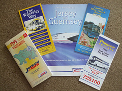 Jersey, Channel Islands bus, coach and ferry literature 1999