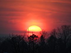 Die Sonne versinkt