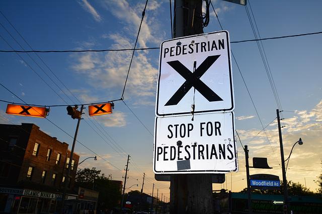 Canada 2016 – Toronto – Stop for pedestrians
