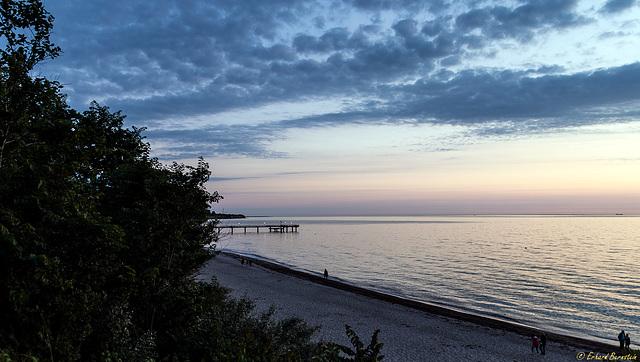 Abends, am Strand ...