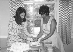 Mary and her mom, Betty, 1973, at her grandparent's 50th anniversary party