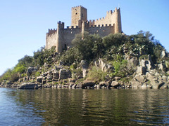 Almourol Castle, on top of Almourol Islet.