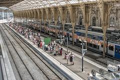 NICE; Gare SNCF; Vue depuis la nouvelle passerelle 08