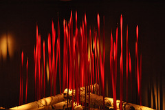 Chihuly toronto ROM red reeds on logs DSC 2315