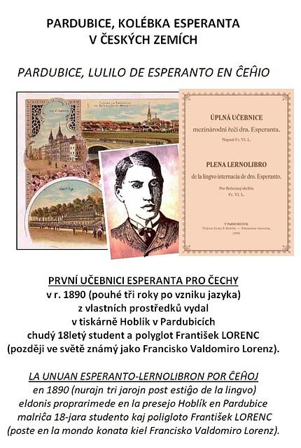 Pardubice, lulilo de Esperanto en Ĉeĥio