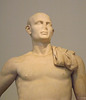 Detail of the Pseudo-Athlete of Delos in the National Archaeological Museum of Athens, May 2014