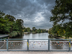 Hamburg's Alster on a Dull and Drab Day - HFF (345°)