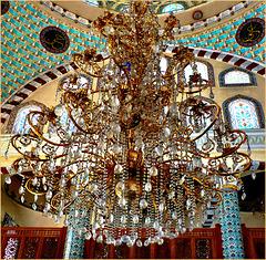 Moskea Fatìh Camìì - Izmir - Uno dei 15 preziosi lampadari - (496)