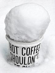 Cold coffee...