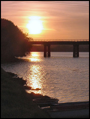 sunset at Black Bridge