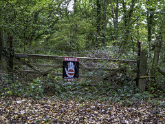 An old field gate and fence to keep you out of danger