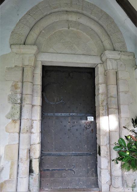 smeeth church, kent,  c12 south doorway