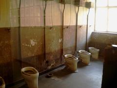 Toilets in prisoners' block.