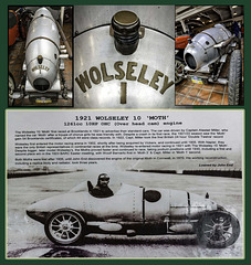 Wolseley 'Moth' Brooklands Museum collage