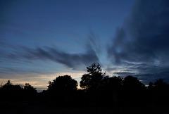 ciel du soir bonsoir,