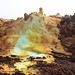 Ethiopia, Danakil Depression, Solidified lava flows in the Crater of the Dallol Volcano