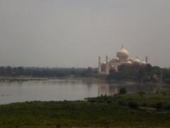 River Yamuna and Taj Mahal.