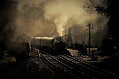 The smoke laden atmosphere of Consall station