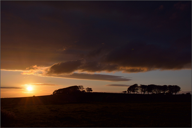 A sunset from Cumbria