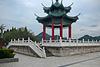 Pagoda and fence