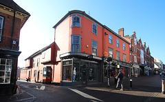 Abbeygate Street and Angel Lane, Bury St Edmunds, Suffolk