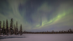 Aurora and moonlight