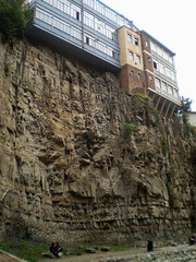 Buildings on the edge of the cliff!