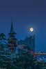 Full Moon over Hamburg's Elbphilharmonie (135°)