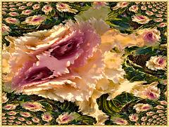 chou décoratif , fractalisé AVEC GIMP