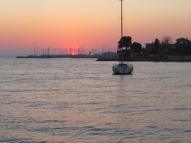 Coucher de soleil sur Zadar.