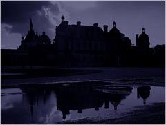 Crépuscule sur chateau